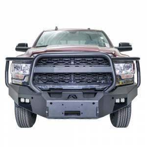 Fab Fours - Fab Fours DR19-A4450-1 Premium Front Bumper with Full Grill Guard for Dodge Ram 2500/3500 2019-2021