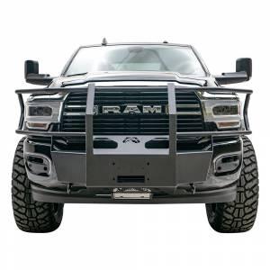 Exterior Accessories - Winch Mount | Hidden Winch Bumpers - Fab Fours - Fab Fours DR19-N4470-1 Winch Mount with Full Guard for Dodge Ram 2500/3500 HD 2019-2021