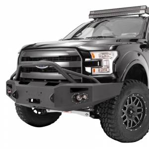 Fab Fours FF09-H1952-1 Front Bumper with Pre-Runner Guard for Ford F150 2009-2014