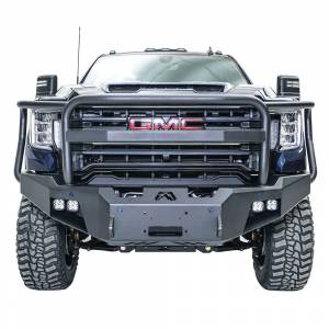 Fab Fours - Fab Fours GM20-A5050-1 Premium Front Bumper with Full Grill Guard for GMC Sierra 2500/3500 2020-2021