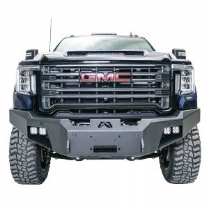 Fab Fours - Fab Fours GM20-A5051-1 Premium Front Bumper with No Guard for GMC Sierra 2500/3500 2020-2021