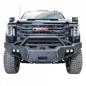 Fab Fours - Fab Fours GM20-A5052-1 Premium Front Bumper with Pre-Runner Guard for GMC Sierra 2500/3500 2020-2021