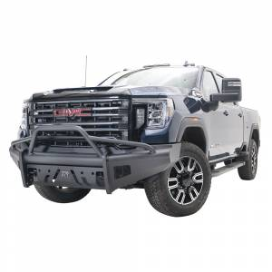 Fab Fours - Fab Fours GM20-Q5062-1 Black Steel Elite Front Bumper with Pre-Runner Guard for GMC Sierra 2500/3500 2020-2021