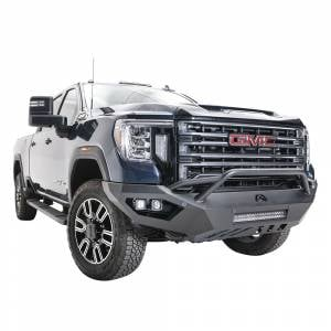 Fab Fours - Fab Fours GM20-V5052-1 Vengeance Front Bumper with Pre-Runner Guard for GMC Sierra 2500/3500 2020-2021