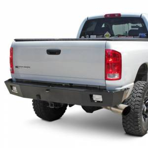Van Bumpers - Ford Econoline Vans - Aluminess - Aluminess 210005.1 Rear Bumper without Brush Guard and Swing Arm for Ford Econoline Van 1992-2014