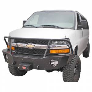 Aluminess 210044.2 Front Bumper with Brush Guard for Chevy Express Van 2003-2016
