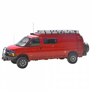 Aluminess - Aluminess 210415.1 Extended Body High Roof Rack for Ford Transit Van 2015-2020