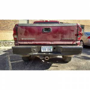 Thunderstruck - Thunderstruck CHLD03-300 Premium Rear Bumper with Sensor Holes for Chevy Silverado 2500/3500/2500 HD 2001-2006