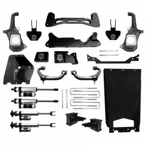 """Icon Vehicle Dynamics - Icon K78203 Stage 3 6""""-8"""" Front and Rear Lifted Suspension Lift Kit for Chevy Silverado and GMC Sierra 2500 HD/3500 HD 2011-2016"""