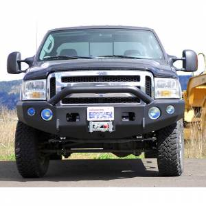 Shop Bumpers By Vehicle - Ford F450/F550 Super Duty - TrailReady - TrailReady 12300P Winch Front Bumper with Pre-Runner Guard for Ford F450/F550 1998-2000