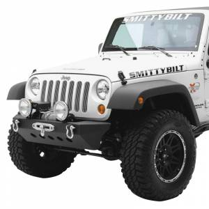 Jeep Bumpers - Smittybilt - Smittybilt - Smittybilt 76743 SRC Classic Winch Front Bumper for Jeep Wrangler JK 2007-2018