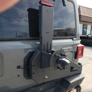 Shop Bumpers By Vehicle - Jeep Wrangler JL - Hammerhead Bumpers - Hammerhead 600-56-0750 Spare Tire Carrier Jeep Wrangler JL 2018-2020