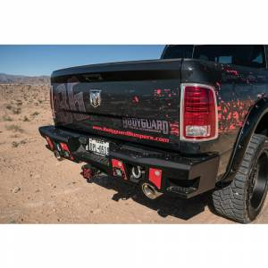 Bodyguard - Bodyguard DFR19B A2 Rear Bumper with Sensor Holes for Dodge Ram 2500 HD/3500 HD 2019-2020 (New Body Style) - Image 5