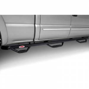 N-Fab - N-Fab C07115CC-6 Wheel to Wheel Nerf Bars with Bed Access for Chevy Silverado and GMC Sierra 2500/3500 HD Crew Cab 2007-2010 - Gloss Black - Image 2