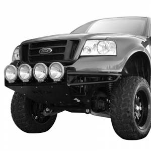 Shop RSP Front Bumper Replacement - Ford - N-Fab - N-Fab F044RSP-TX Multi Mount RSP Pre-Runner Front Bumper for Ford F150 2004-2008 - Textured Black
