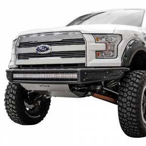 N-Fab - N-Fab F151MRDS M-RDS Pre-Runner Front Bumper for Ford F150 2015-2017 - Gloss Black - Image 1