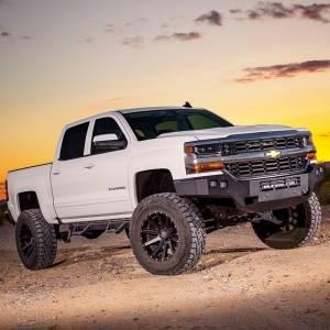 Truck Bumpers - ICI Aluminum Series - ICI - ICI AL-FBM16CHN-RTAluminumFront Bumper for Chevy Silverado 1500 2016-2018