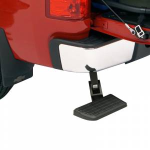 AMP Research - AMP Research 75301-01A BedStep Flip Down Bumper Step for GMC Sierra 1500 HD/2500 HD 2001-2006 - Image 2
