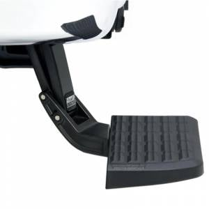 AMP Research BedStep - Ford BedStep - AMP Research - AMP Research 75303-01A BedStep Flip Down Bumper Step for Ford F450 1999-2016