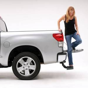AMP Research - AMP Research 75305-01A BedStep Flip Down Bumper Step for Toyota Tundra 2007-2013