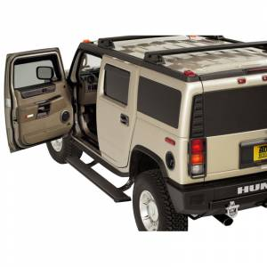 Exterior Accessories - Running Boards and Nerf Bars - AMP Research - AMP Research 75107-01A PowerStep Electric Running Board for Hummer H2 2003-2009