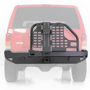 Smittybilt - Smittybilt 76851 XRC Rear Bumper with Hitch and Tire Carrier for Jeep Cherokee XJ 1984-2001
