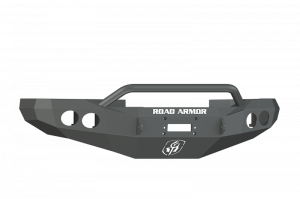 Road Armor 47014Z Front Stealth Winch Bumper with Round Light Holes + Pre-Runner Bar Dodge Ram 1500 1997-2001 *Raw Steel*