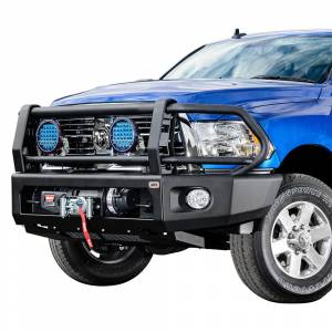 ARB 4x4 Accessories - ARB 2237010 Deluxe Modular Winch Front Bumper Kit for Dodge Ram 2500/3500 2010-2018