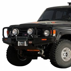 Shop Bumpers By Vehicle - Toyota Land Cruiser - ARB 4x4 Accessories - ARB 3410100 Deluxe Winch Front Bumper with Bull Bar for Toyota Land Cruiser 1981-1989