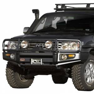 Shop Bumpers By Vehicle - Toyota Land Cruiser - ARB 4x4 Accessories - ARB 3413190 Deluxe Winch Front Bumper with Bull Bar for Toyota Land Cruiser 2003-2007