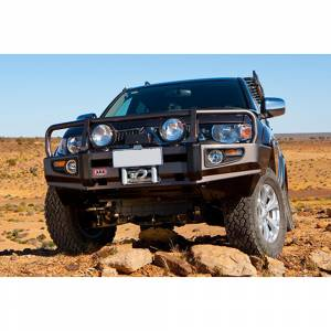 ARB 4x4 Accessories - ARB 3415010 Deluxe Winch Front Bumper with Bull Bar for Toyota Tundra 2007-2013