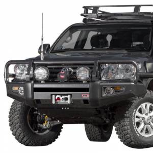Shop Bumpers By Vehicle - Toyota Land Cruiser - ARB 4x4 Accessories - ARB 3415150 Deluxe Winch Front Bumper with Bull Bar for Toyota Land Cruiser 2012-2015