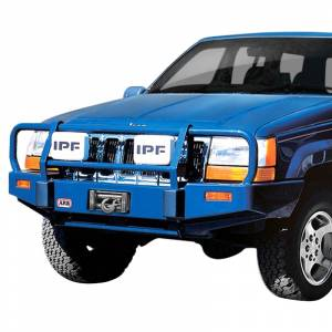 Shop Bumpers By Vehicle - Jeep Grand Cherokee - ARB 4x4 Accessories - ARB 3450060 Deluxe Winch Front Bumper for Jeep Grand Cherokee 1993-1998