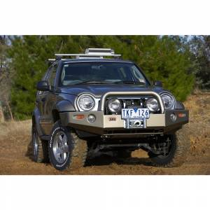 Shop Bumpers By Vehicle - Jeep Liberty - ARB 4x4 Accessories - ARB 3450170 Deluxe Winch Front Bumper for Jeep Liberty 2005-2007