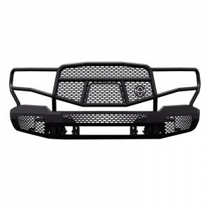 Truck Bumpers - Ranch Hand Midnight Series - Ranch Hand - Ranch Hand MFC151BM1 Midnight Front Bumper with Grille Guard for Chevy Silverado 2500 HD/3500 HD 2015-2019