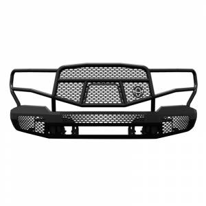 Truck Bumpers - Ranch Hand Midnight Series - Ranch Hand - Ranch Hand MFC19HBM1 Midnight Front Bumper with Grille Guard for Chevy Silverado 1500 2019-2020