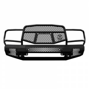 Truck Bumpers - Ranch Hand Midnight Series - Ranch Hand - Ranch Hand MFD101BM1 Midnight Front Bumper with Grille Guard for Dodge Ram 2500/3500 2010-2018