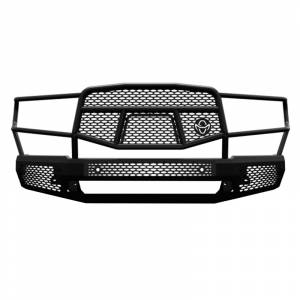Truck Bumpers - Ranch Hand Midnight Series - Ranch Hand - Ranch Hand MFD19HBM1 Midnight Front Bumper with Grille Guard for Dodge Ram 1500 2019-2020
