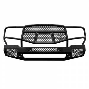 Truck Bumpers - Ranch Hand Midnight Series - Ranch Hand - Ranch Hand MFF18HBM1 Midnight Front Bumper with Grille Guard for Ford F150 2018-2020