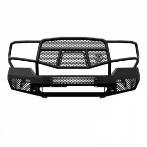 Truck Bumpers - Ranch Hand Midnight Series - Ranch Hand - Ranch Hand MFG151BM1 Midnight Front Bumper with Grille Guard for GMC Sierra 2500 HD/3500 HD 2015-2019