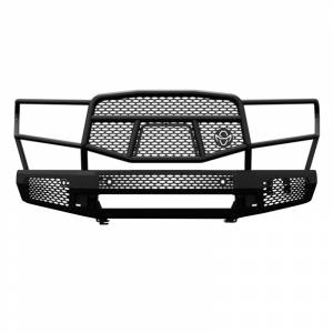 Truck Bumpers - Ranch Hand Midnight Series - Ranch Hand - Ranch Hand MFT14HBM1 Midnight Front Bumper with Grille Guard for Toyota Tundra 2014-2020