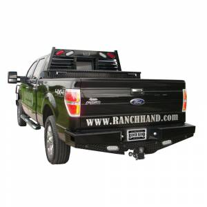 Ford - Ford F150 - Ranch Hand - Ranch Hand SBF09HBLSL Sport Rear Bumper with Lights and Sensor Holes for Ford F150 2009-2014