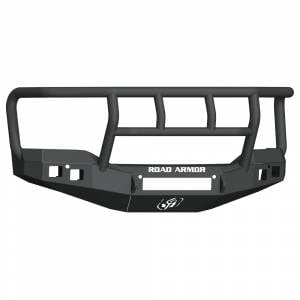 Road Armor - Road Armor 2161F2B-NW Stealth Non-Winch Front Bumper with Titan II Guard and Square Light Holes for GMC Sierra 1500 2016-2017