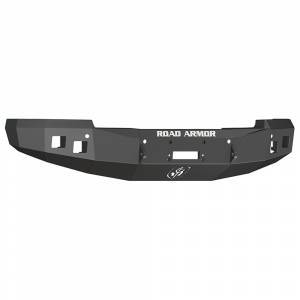 Road Armor - Road Armor 314R0B Stealth Winch Front Bumper with Square Light Holes for Chevy Silverado 1500 2014-2015