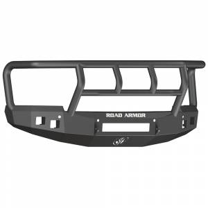 Road Armor - Road Armor 314R2B-NW Stealth Non-Winch Front Bumper with Titan II Guard and Square Light Holes for Chevy Silverado 1500 2014-2015