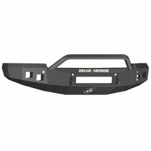 Road Armor - Road Armor 314R4B-NW Stealth Non-Winch Front Bumper with Pre-Runner Guard and Square Light Holes for Chevy Silverado 1500 2014-2015