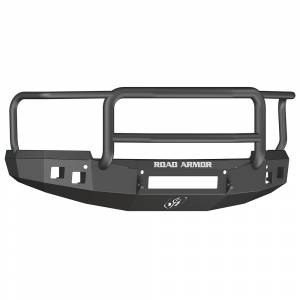 Road Armor - Road Armor 314R5B-NW Stealth Non-Winch Front Bumper with Lonestar Guard and Square Light Holes for Chevy Silverado 1500 2014-2015