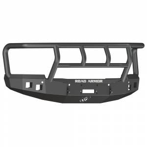 Road Armor - Road Armor 315R2B Stealth Winch Front Bumper with Titan II Guard and Square Light Holes for Chevy Silverado 2500 HD/3500 HD 2015-2019