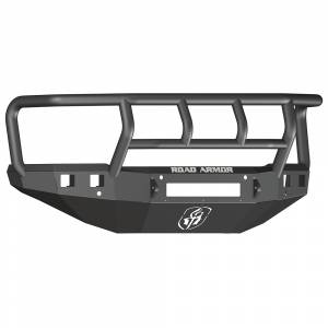 Road Armor - Road Armor 315R2B-NW Stealth Non-Winch Front Bumper with Titan II Guard and Square Light Holes for Chevy Silverado 2500 HD/3500 HD 2015-2019