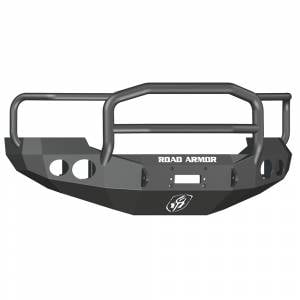 Ford F250/F350 Super Duty - Ford Superduty 2005-2007 - Road Armor - Road Armor 60505B Stealth Winch Front Bumper with Lonestar Guard and Round Light Holes for Ford F250/F350/F450/Excursion 2005-2007